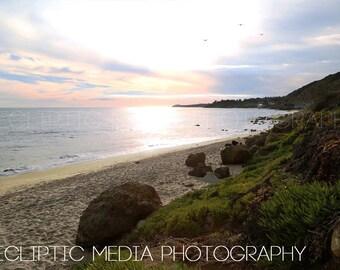 "California Coast Photo, Beach Photo, Malibu, Ocean, ""Malibu Coastline"""
