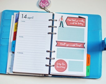 2015 page a day planner page, zombie illustrated diary page, instant download, cute zombie, daily planner printable, funny zombies