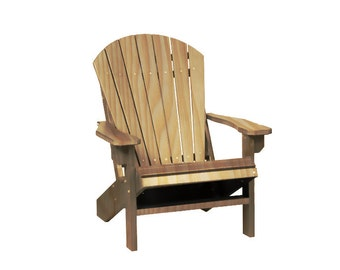 Natural Wood Adirondack Chair Outdoor Furniture
