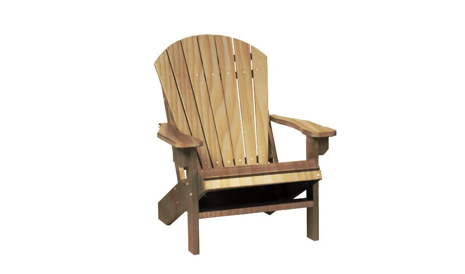 Natural wood adirondack chair outdoor furniture - Natural wood outdoor furniture ...