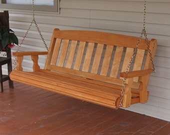 5 Foot Amish Heavy Duty 700 lb Mission Treated Porch Swing