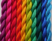 Hand Dyed Embroidery Thread Pack (10 colours) - Brights Collection
