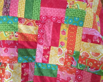 Baby quilt, play mat, or lap quilt