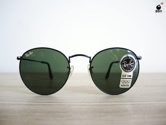 vintage ray ban w0604 80 s lunettes de soleil ronde john. Black Bedroom Furniture Sets. Home Design Ideas