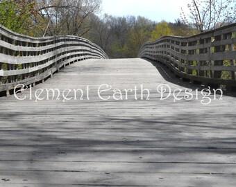 Bridge in the Woods, Instant Download, 11x14, Digital Printable, Fine Art Digital Photo, Photography, landscape