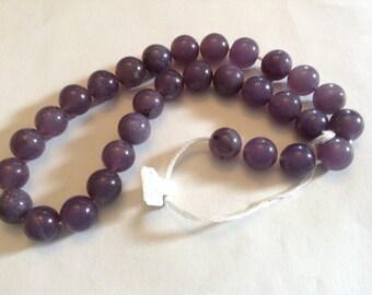 10mm plum Jade beads