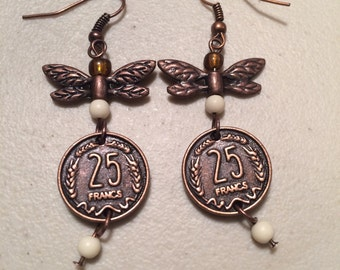 Dragonfly wing earrings