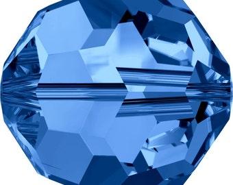 Swarovski Crystal Round Beads 5000 - 3mm 4mm 5mm 6mm 8mm 10mm - Capri Blue