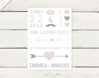30 x wedding invitation | Typo No 1