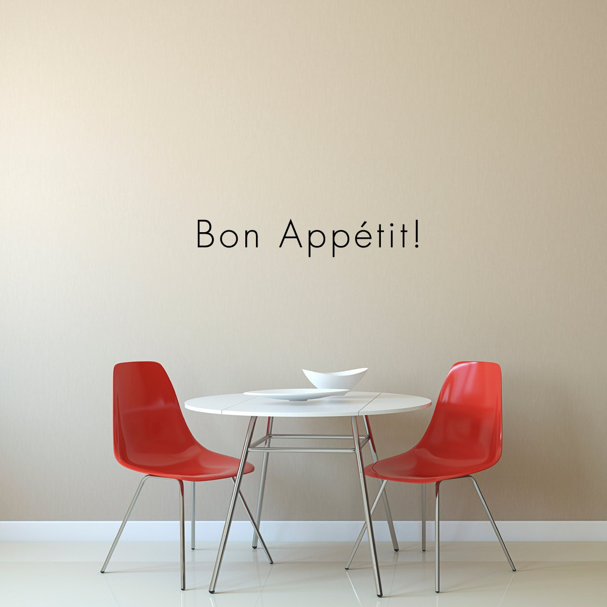 Bon appetit wall decal dining room wall quote sticker for Dining room wall quote decals