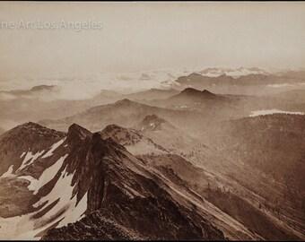 "Carleton Watkins photo, ""Summit of the Sierras from Round Top"" 1879"