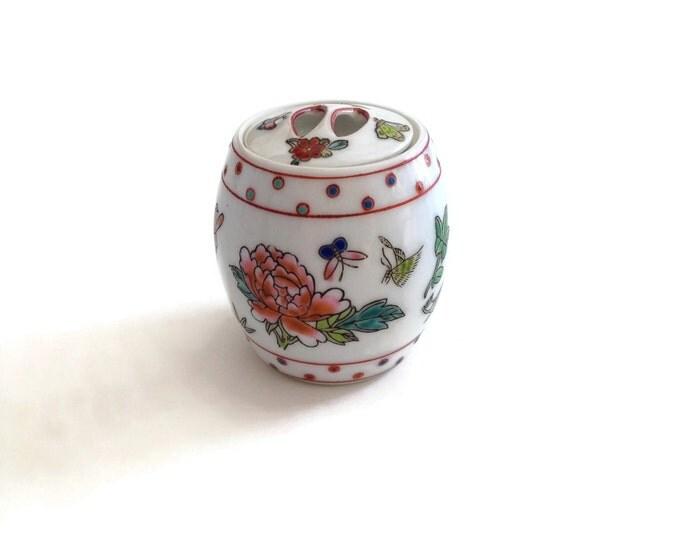 Ginger Jar, Vintage Ginger Jar, Porcelain Ginger Jar, Vintage Home Decor,