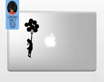 Banksy Balloon Girl - Macbook Vinyl Decal Sticker / Laptop Decal / iPad Sticker