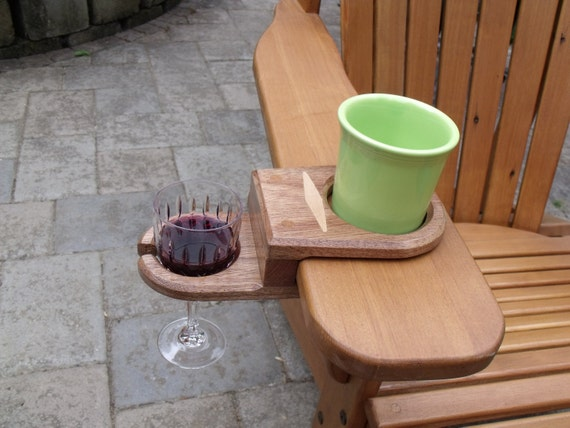 Items similar to Hand Made Adirondack Chair Wine Glass and ...