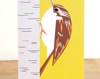 Treecreeper Woodland Bird Greetings Card