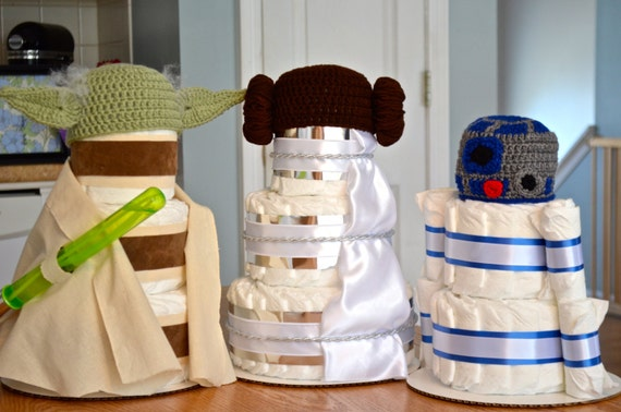 star wars baby shower centerpieces star wars nursery diaper cakes