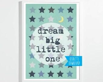 Poster Dream Big Etsy