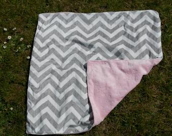 Little Pink Cloud - minky baby blanket
