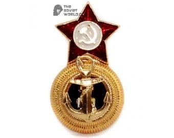 Soviet fleet USSR Naval Admiral's hat badge Cocarde