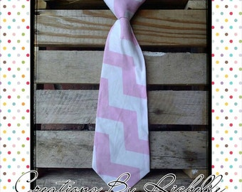 Chevron Neck Ties (Pink)
