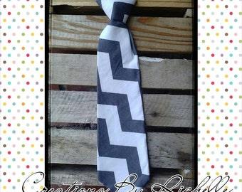 Chevron Neck Ties (Gray)