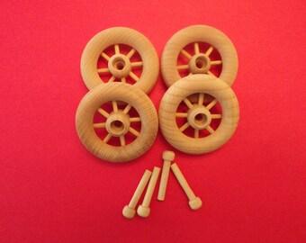 Wood Spoke Toy Wheel with Axle Peg