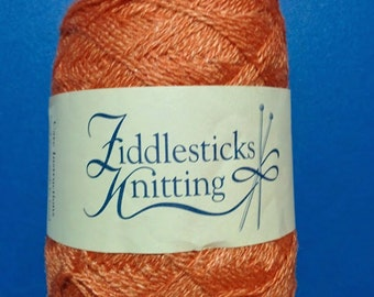 2 x 2 oz Knitting wool and silk blend, copper color