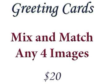 Blank Note Card, Stationery Set, Set of 4, Adirondack Greeting Card, Note Card, Nature Greeting Card, Photo Greeting Card Set, Photo Cards