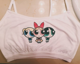 Powerpuff girls 90s crop top Bralette