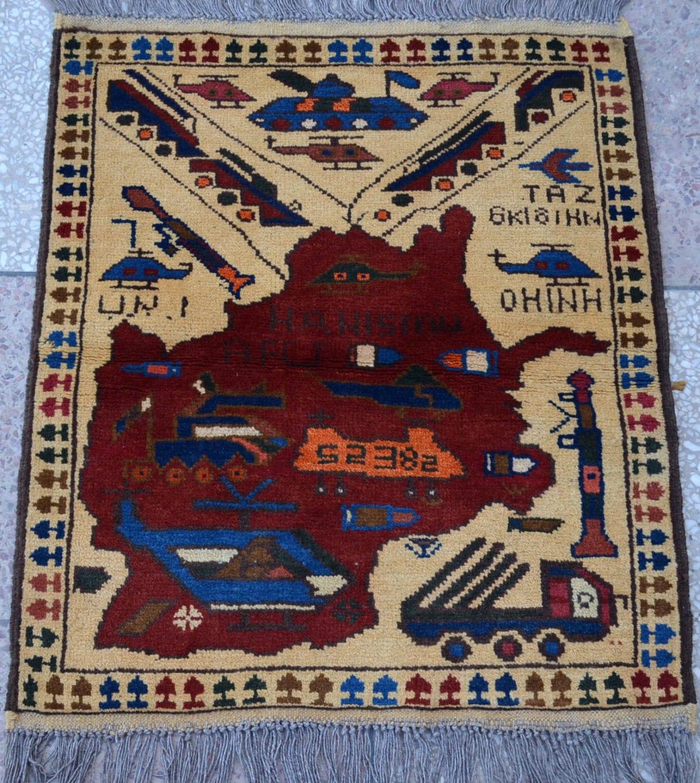 Antique Vintage Afghan War Rug Oriental Rug By Paramountcrafts
