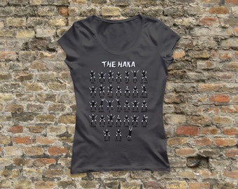 New Zealand Rugby Haka Womens T Shirt 100% cotton - 1063