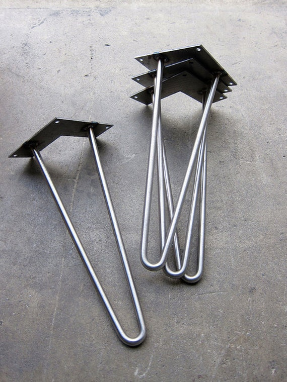 ... metal leg, Mid Century Modern, Hairpin desk legs, metal table legs
