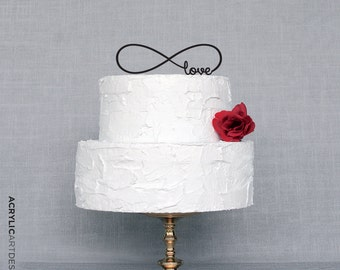 Infinity Cake Topper for Weddings by AcrylicArtDesign