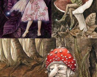 Three A6 Greetings Faery Cards