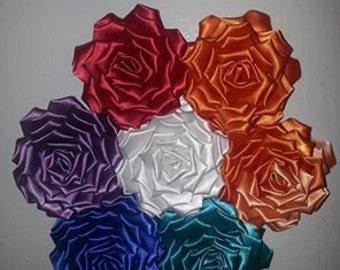 Silky Smooth Ribbon Kanzashi Rose Magnets