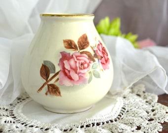 Vintage Posey Vase Roses by Crown Devon, England