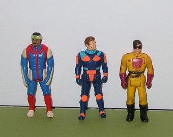 Group of 3 vintage 1980s MASK figures