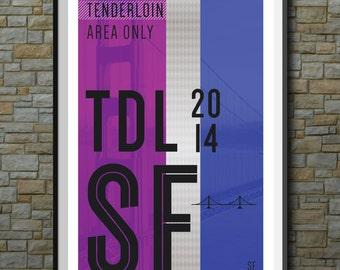 SF Muni Poster: Tenderloin