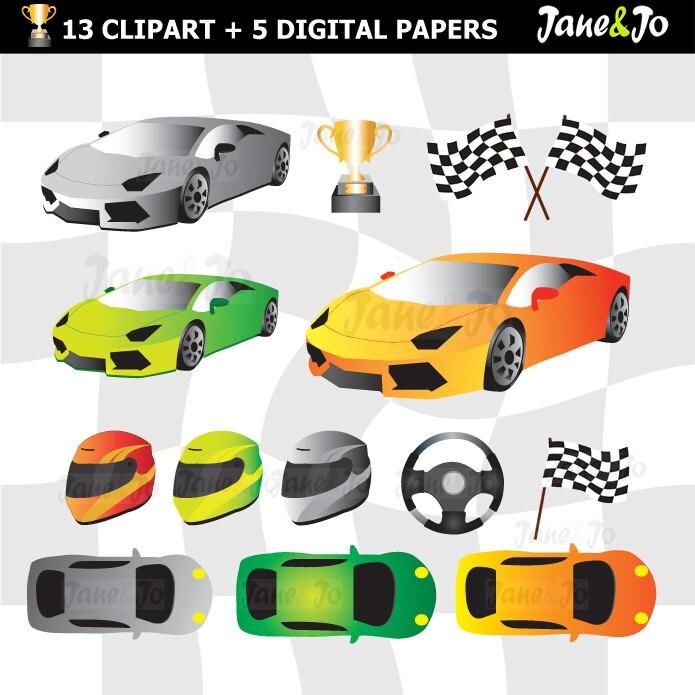 Race car clipart | Etsy