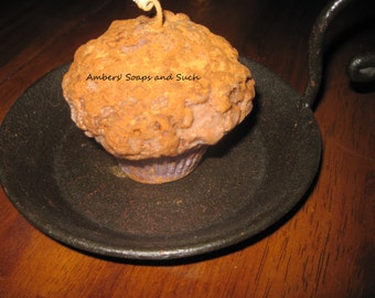 Homespun Grubby Muffin Candle! Soy Wax Blend! Pick your scent. Bakery Candle