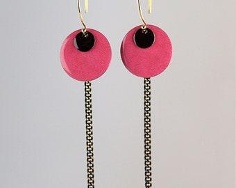 Earrings Rock'in Fuchsia, gold filled