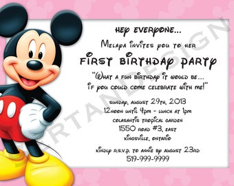 Mickey Mouse Birthday 5x7