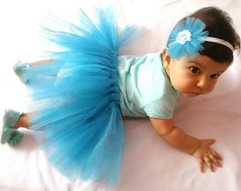 Tutu Skirt Baby Girl, Baby Girl Skirt. Headband Set baby, Baby Headband. Tule skirt baby girl