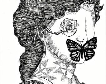 Georgian Lady with Mandala Tattoo