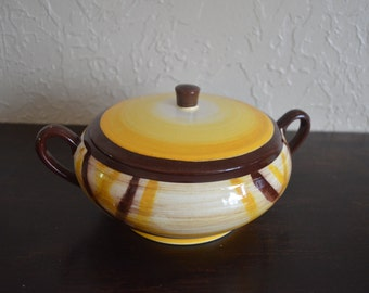 Vernonware Organdie Soup Tureen with Lid