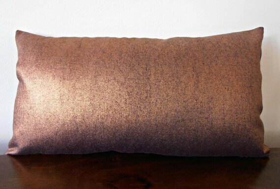 Copper Denim Pillow Cover Copper Cushion Copper Decor