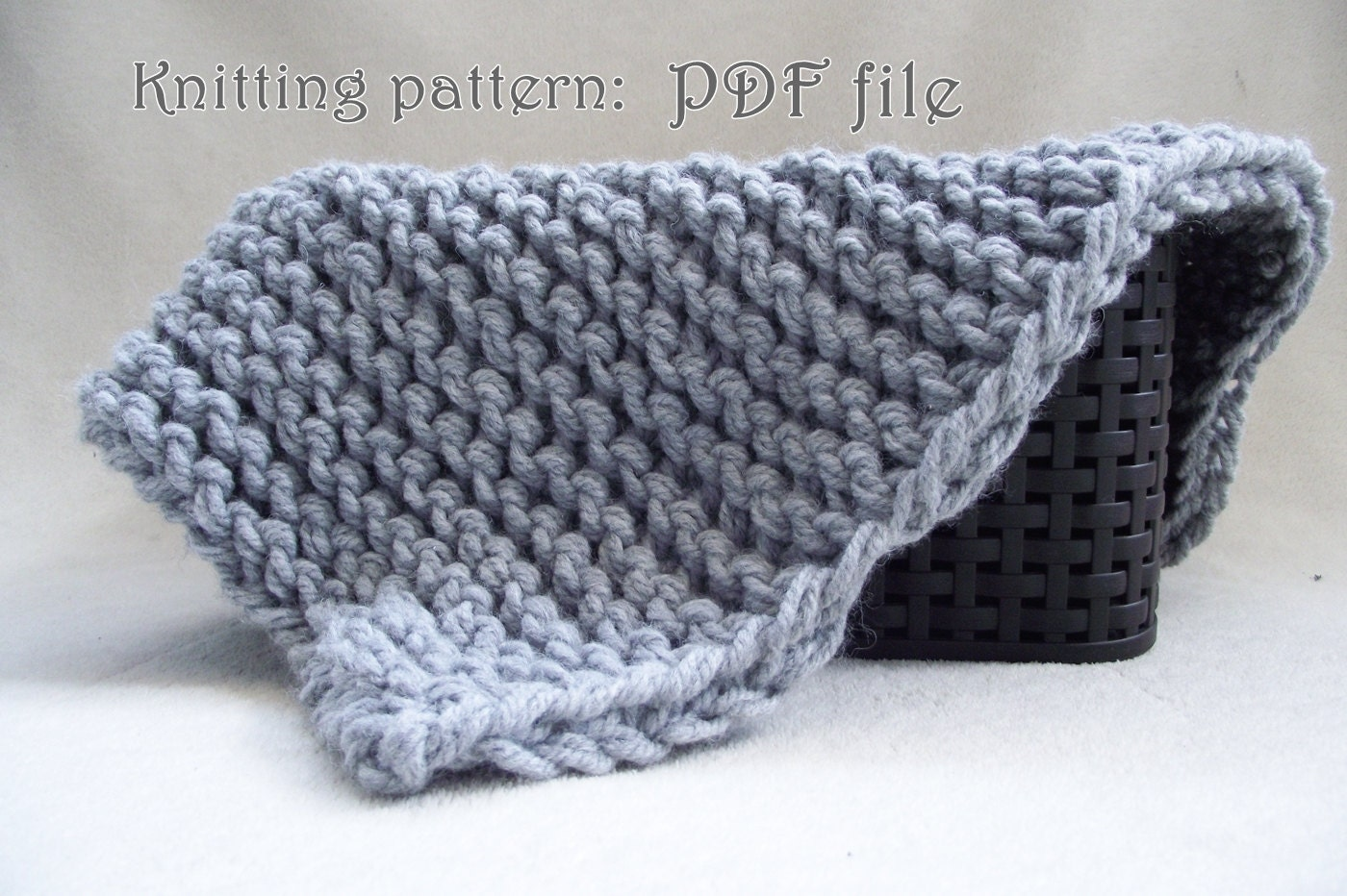 113 Beginner Knitting Pattern mini blanket Easy knit