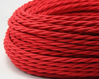 Textile cable / stranded cables red / cable 2 of wire 2 x 0, 75 mm