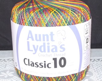 Aunt Lydias Classic 10 Variegated Cotton Thread, Mexicana
