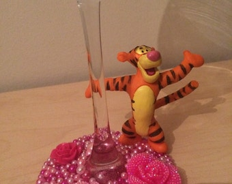 Disney Tigger wine glass